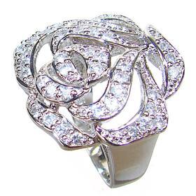 Stunning White Topaz Sterling Silver Ring size K