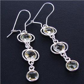 Royal Citrine Sterling Silver Earrings