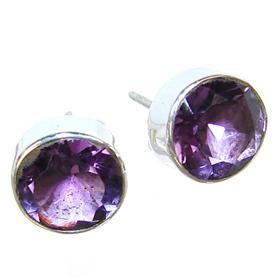 Amethyst Sterling Silver Gemstone Earrings