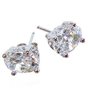 Stunning White Topaz Sterling Silver Earrings