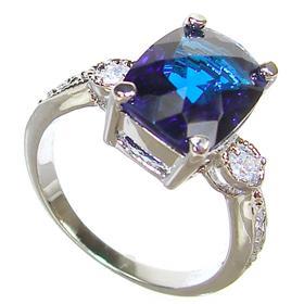 Sapphire Quartz Sterling Silver Ring size L 1/2