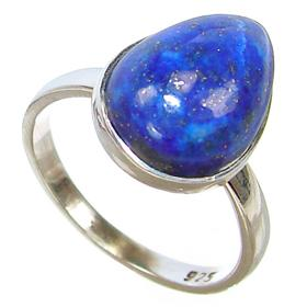 Lapis Lazuli Sterling Silver Ring size O