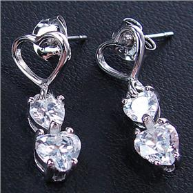Stunning White Topaz Sterling Silver Earrings