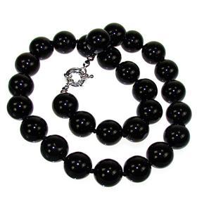 Elegant Onyx Fashion Necklace 18 inches long