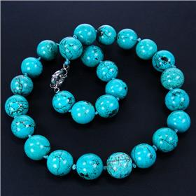 Breathtaking Turquoise Necklace 18 inches long