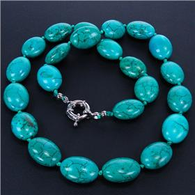 Breathtaking Turquoise Sterling Silver Necklace 18 inches long