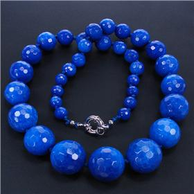 Lapis Lazuli Sterling Silver Necklace 20 inches long
