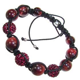 Shamballa Red Tiger Eye Bracelet