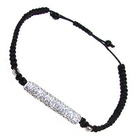 Shamballa White Crystal Bracelet Unisex