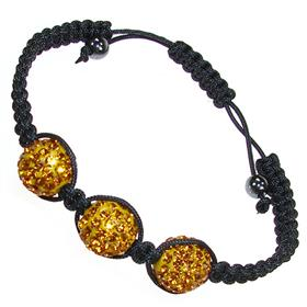 Shamballa Honey Crystal Bracelet Unisex