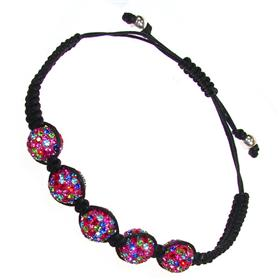 Shamballa Multicolour Crystal Bracelet Unisex