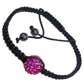 Shamballa Pink Crystal Bracelet