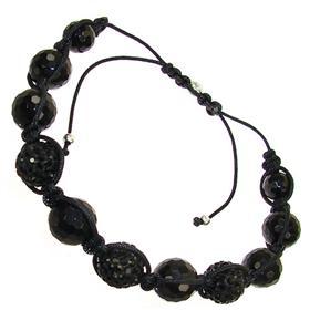 Shamballa Black Crystal Bracelet Unisex