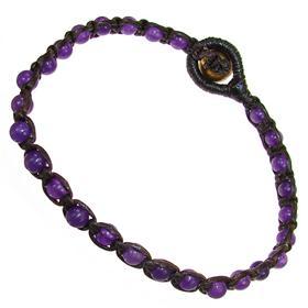 Shamballa Amethyst Bracelet