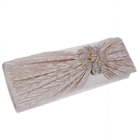 Medium Sized Hard Case Diamente Bag with Long Chain