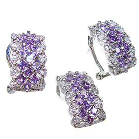 Heavenly Purple Quartz Sterling Silver Set