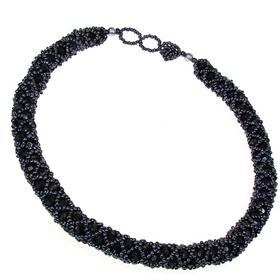 Eye-Catching Paris Black Fashion Necklace 18 inches