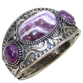 Chunky Purple Fashion Bracelet
