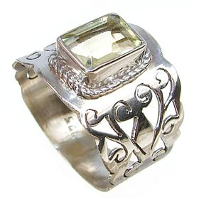 Artisan Citrine Sterling Silver Ring size P 1/2