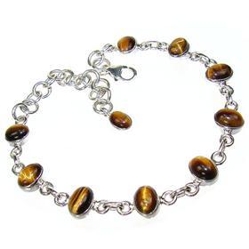 Tiger Eye Sterling Silver Gemstone Bracelet