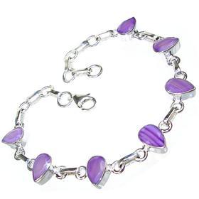 Botswana Agate Sterling Silver Bracelet