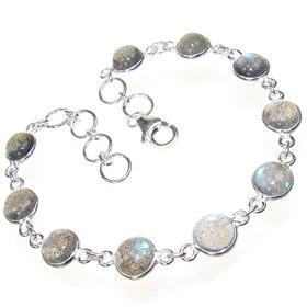 Fire Labradorite Sterling Silver Bracelet
