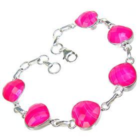 Pink Candy Botswana Agate Sterling Silver Bracelet
