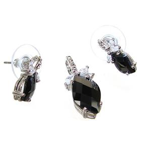Gallant Black Onyx Hearts Sterling Silver Set