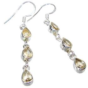 Royal Citrine Sterling Silver Earrings