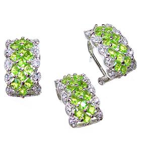 Spring Lime Quartz Sterling Silver Set