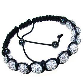 Shamballa White Crystal Bracelet
