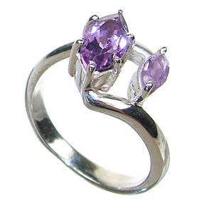 Delightful Amethyst Sterling Silver Ring size Q