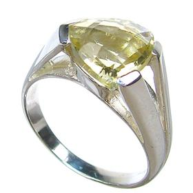 Artisan Citrine Sterling Silver Ring size P