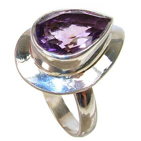 Royal Amethyst Sterling Silver Ring size Q 1/2