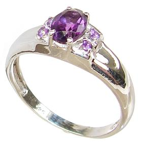 Delightful Amethyst Sterling Silver Ring size R 1/2