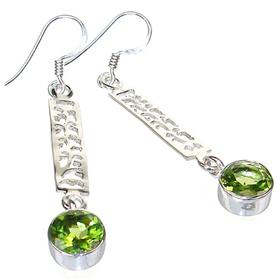 Large Royal Peridot Sterling Silver Earrings