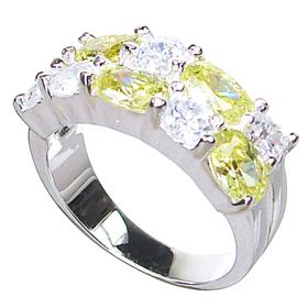 Sunny Citrine Quartz Sterling Silver Ring size N 1/2
