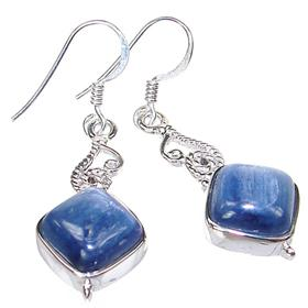 Rare Kyanite Sterling Silver Earrings