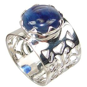 Rare Kyanite Sterling Silver Ring Size N 1/2