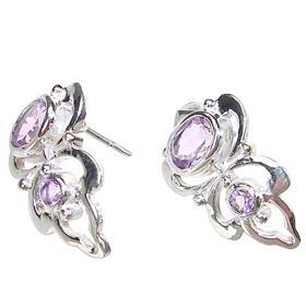 Royal Amethyst Sterling Silver Earrings