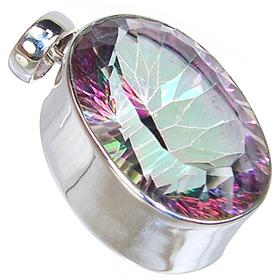 Mystic Topaz Sterling Silver Pendant