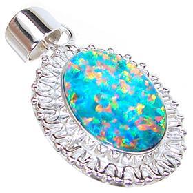 Rare Sparkle Opal Sterling Silver Pendant Jewellery