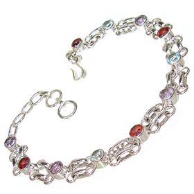 Incredible Multigem Sterling Silver Bracelet