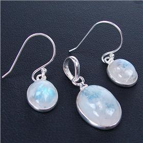 Rainbow Moonstone Sterling Silver Set