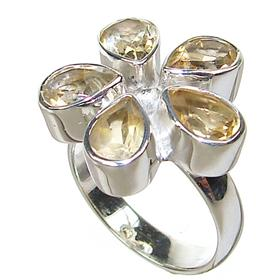 Artisan Citrine Sterling Silver Ring size L