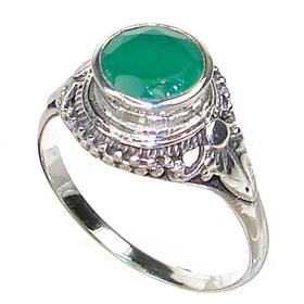 Botswana Agate Sterling Silver Ring size P 1/2