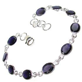 Fancy Iolite Sterling Silver Bracelet