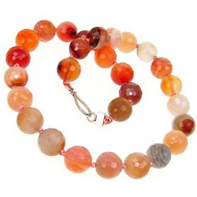 Breathtaking Carnelian Agate Fashion Necklace 18 inches long