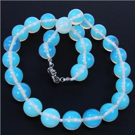 Breathtaking Fire Opalite Necklace 17 inches long