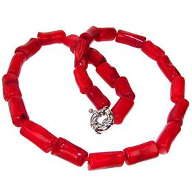 Breathtaking Red Coral Necklace 20 inches long